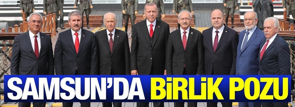 Samsun'da birlik pozu