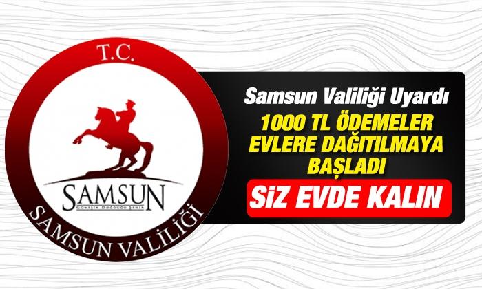 Samsun'da Bin TL'lik yardım kapıda ödeniyor