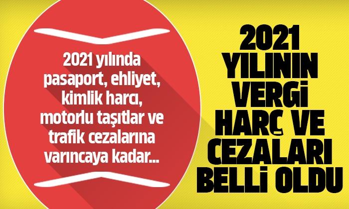 2021 yılının vergi, harç ve cezaları belli oldu