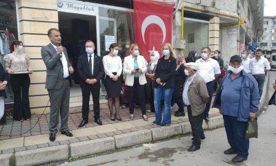 CHP İl Örgütü Hayır Çarşılarının 3. sünü Terme'de büyük bir coşku ile açtı