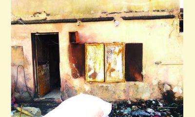 Demirtaş'tan evi yanan aileye yardım eli