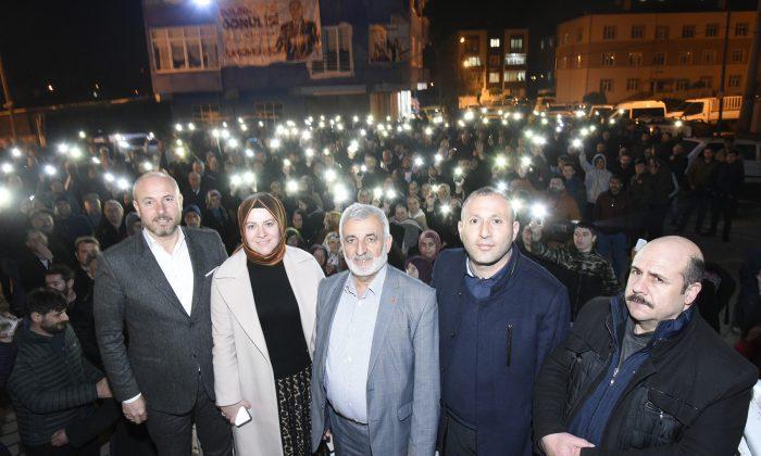 Tekkeköy'de Hasan Togar'a tam destek