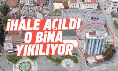 Samsun'daki o binanın yıkımı için ihale açıldı!