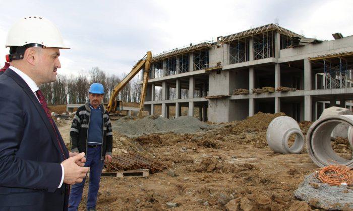 Salıpazarı Devlet Hastanesi inşaatı devam ediyor