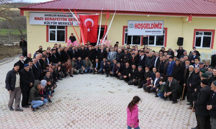 İlk Kültür Merkezi Akbelen'de Açıldı