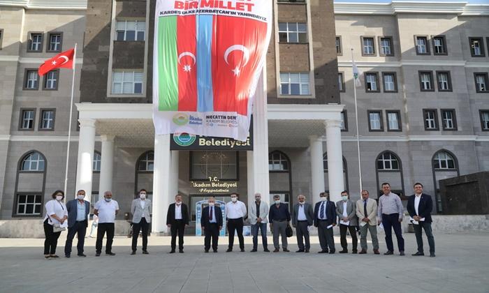İlkadım Belediyesi'nden Azerbaycan'a destek