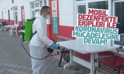 Mobil dezenfekte ekibi toplu kullanım bölgelerini dezenfekte etti