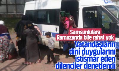 Samsun'da zabıtadan dilenci operasyonu