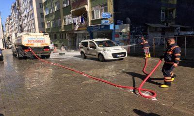 İlkadım'da Sokaklar Baştan Aşağı Yıkanıyor