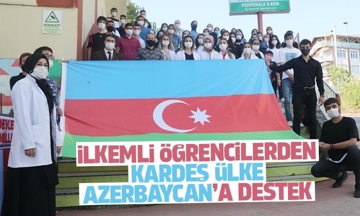 İlkem öğrencileri Azerbaycan'a manevi destek oldular