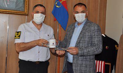 Başkan Akgül'den İlçe Jandarma Komutanı Hakan Akçay'a ziyaret