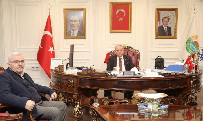 Eski Gazi Belediye Başkanı Kaldırım'dan Başkan Demirtaş'a ziyaret