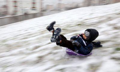 Vezirköprü'de kar nedeniyle okullar tatil edildi