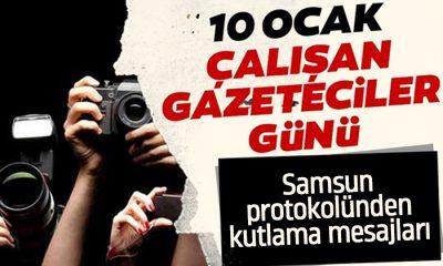 Samsun protokolünden 10 Ocak Gazeteciler günü mesajları
