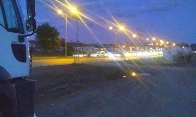 Samsun'da magandalar yolu kapattı