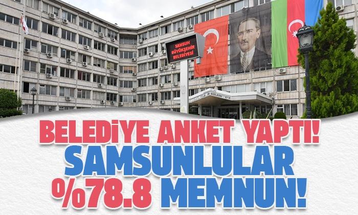 Samsun Büyükşehir Belediyesi Çözüm Merkezi üzerinden anket yaptı