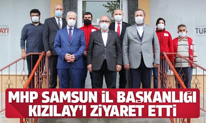 MHP Samsun İl Başkanlığından Türk Kızılayı'na ziyaret