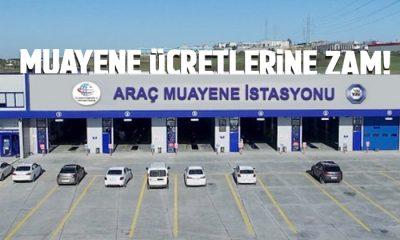 Araç muayene ücretlerine yüzde 9.11 zam!