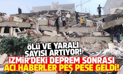 İzmir'deki deprem sonrası kaç kişi öldü? AFAD acı haberi duyurdu