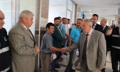Başkan Demirtaş belediye personeli ile bayramlaştı