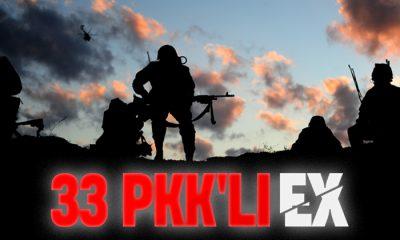 Gara'da 33 PKK'lı terörist öldürüldü