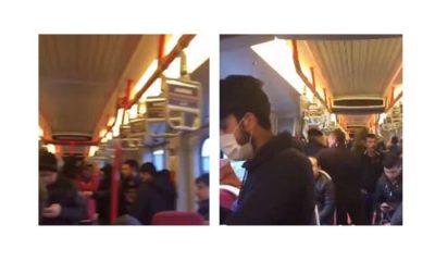 Tramvaylarda Korona Virüs kapsamında alınan tedbirlere rağmen uyulmadı