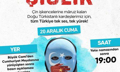 Çin'in Doğu Türkistan'daki uygulamaları, eş zamanlı olarak protesto edilecek