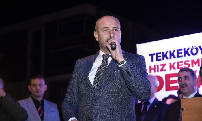 Tekkeköy SKM açılışında Togar'dan gövde gösterisi