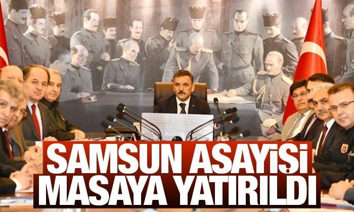 Samsun Asayiş ve Güvenliği toplantısı yapıldı