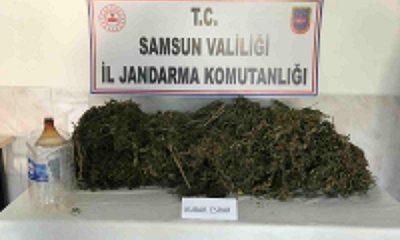 Samsun'da uyuşturucu madde ele geçirildi