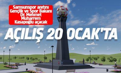 Samsunspor anıtı 20 Ocak'ta açılacak