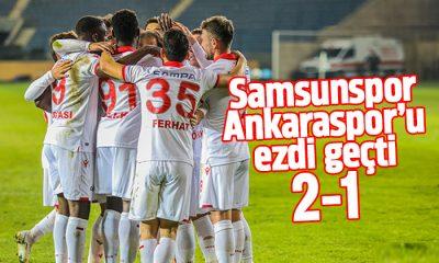 Samsunspor Ankaraspor maç sonucu: 2-1