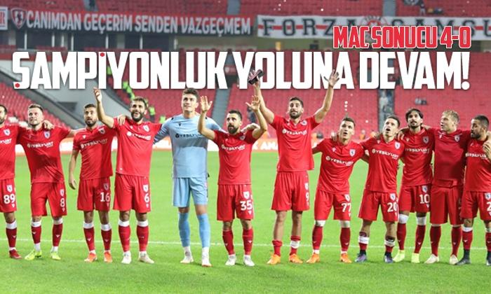 Samsunspor Kırklarelispor maç sonucu: 4-0