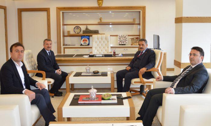 Vali Kaymak'tan Başkan Özdemir'e ziyaret
