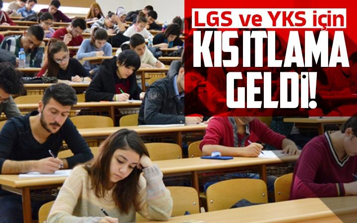 Yeni Genelge Yayınlandı LGS ve YKS İçin Kısıtlama Geldi