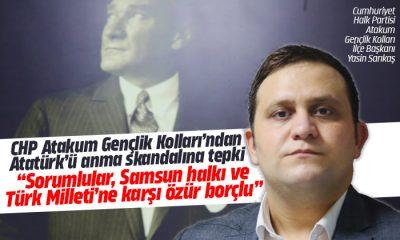 CHP Atakum Gençlik Kolları'ndan Atatürk'ü anma skandalına tepki