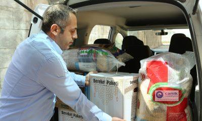 Canik'te Sosyal yardım desteği