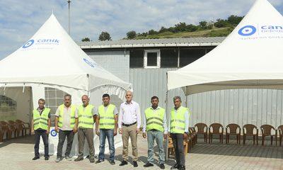 Canik Belediyesi cenaze sahiplerine destek amacıyla taziye çadırı kuruyor
