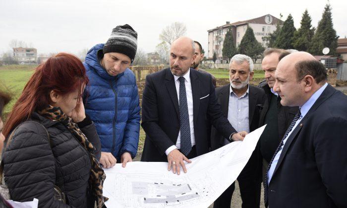 Tekkeköy'e Yapılacak Hastane Alanında Şantiye Kurulmaya Başlandı