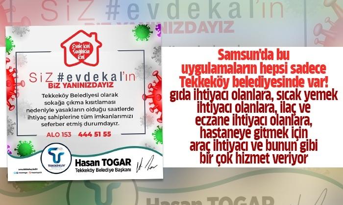 Tekkeköy Belediyesi ekipleri ilçe halkı için 7/24 teyakkuzda bekliyor