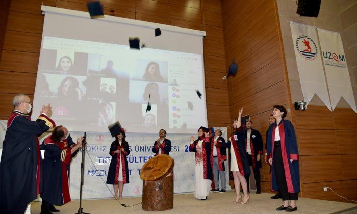 OMÜ Tıp Fakültesinin 42. Mezuniyet Töreni Temsilen Yapıldı