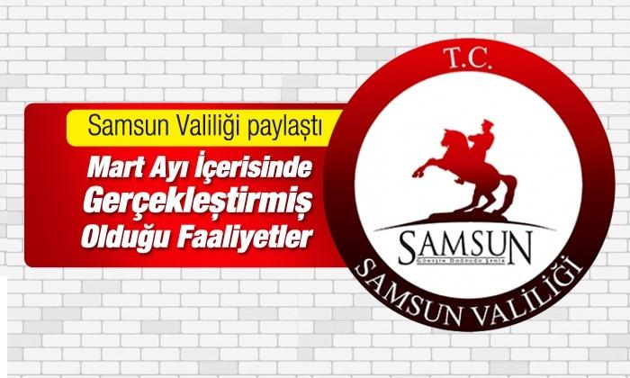 Samsun'da İl Jandarma Komutanlığı'nın Mart Ayı Asayiş Denetimleri