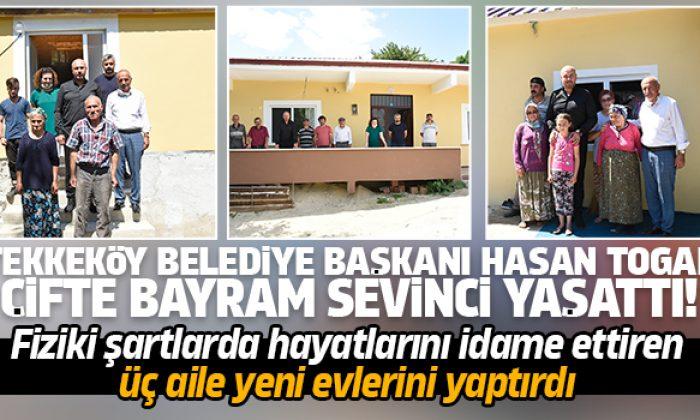 Tekkeköy Belediye Başkanı Hasan Togar çifte bayram sevinci yaşattı