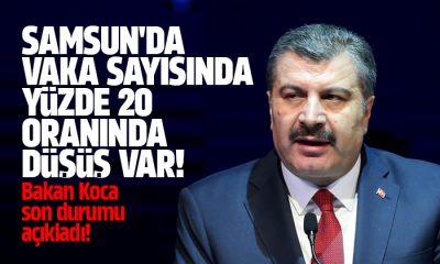 Samsun'da vaka sayısı yüzde 20 azaldı