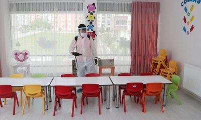 Başkan Cemil Deveci'nin talimatıyla kreş ve anaokullarını dezenfekte edildi