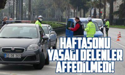Samsun'da yasağı ihlal edenlere para cezası kesildi